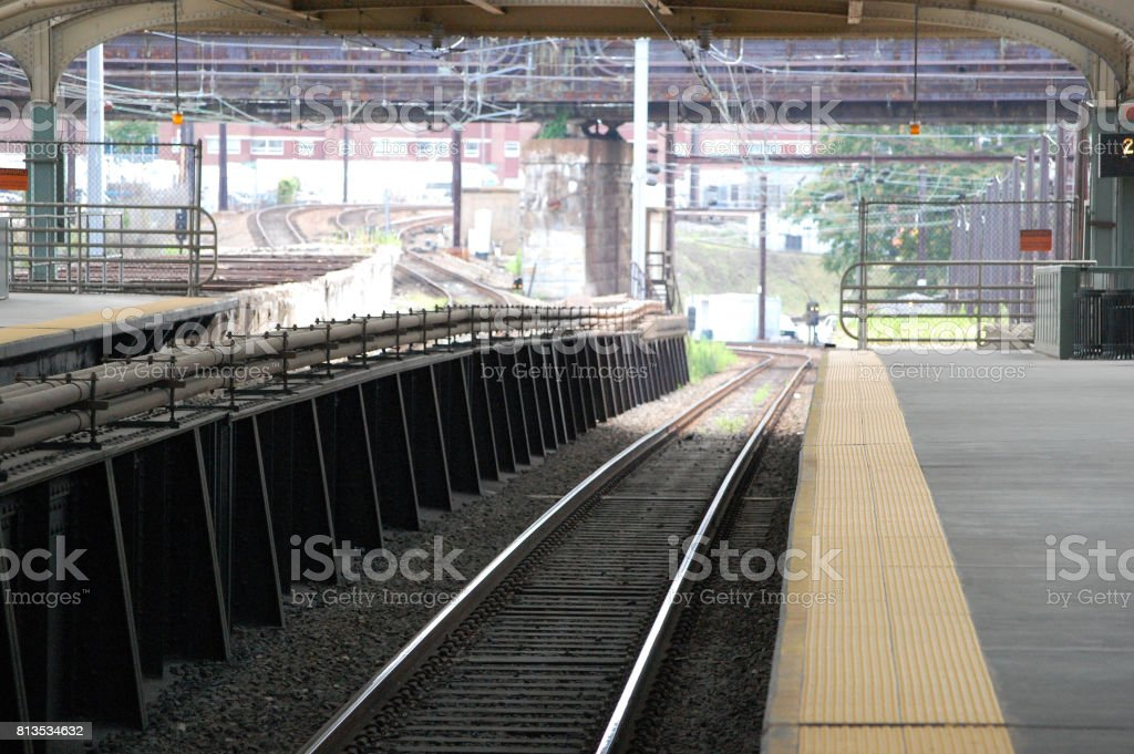 Commuter Rail Tracks stock photo