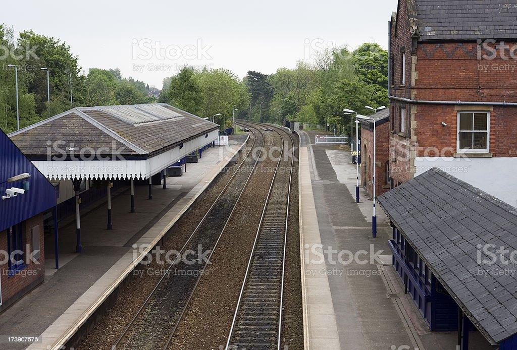 Commuter railway station stock photo