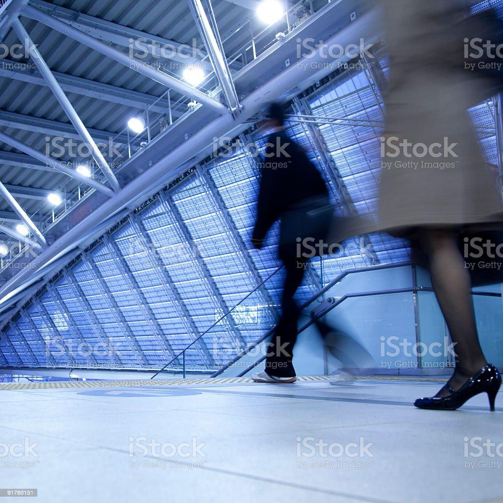 commuter station rush royalty-free stock photo