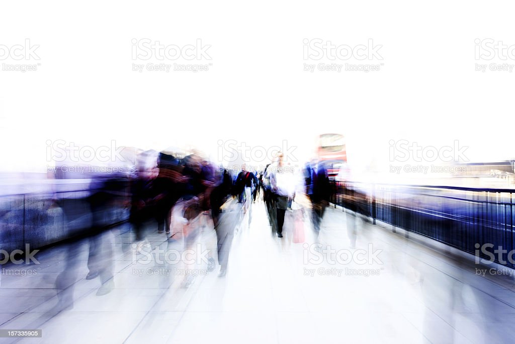 Commuter streaks royalty-free stock photo