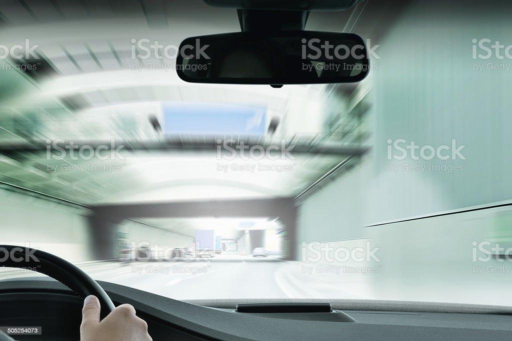 Commuter traffic - Urban Tunnel royalty-free stock photo