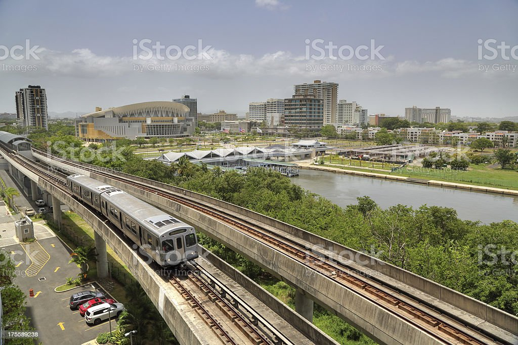 Commuter Train in Hato Rey royalty-free stock photo