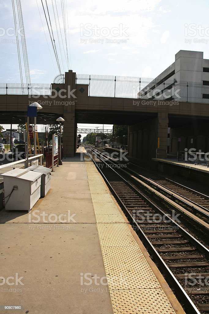 Commuter Train Line royalty-free stock photo