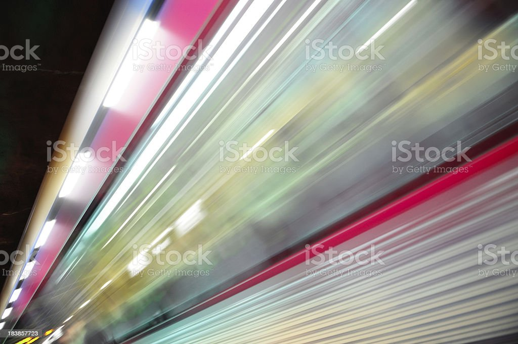 Commuter train, motion blur royalty-free stock photo