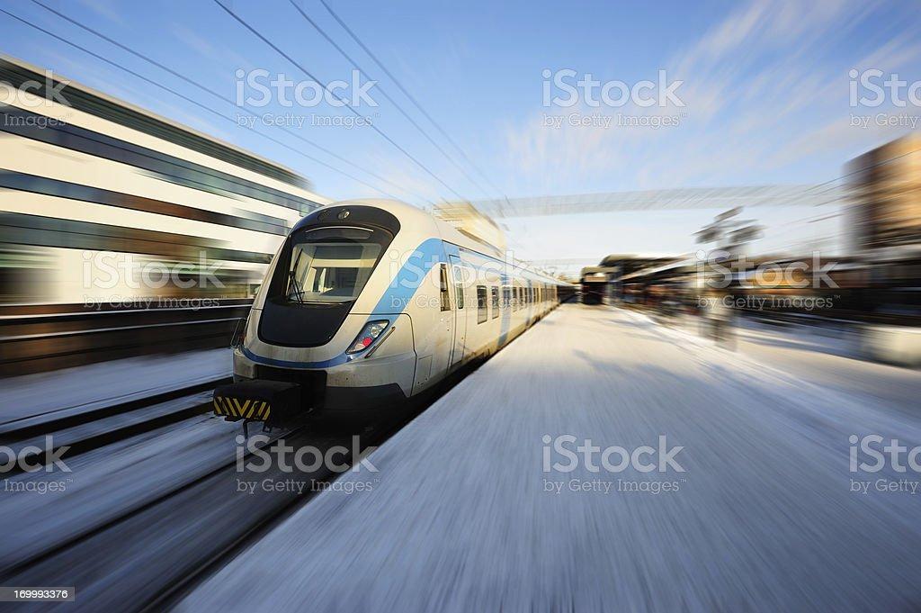 Commuter train stock photo