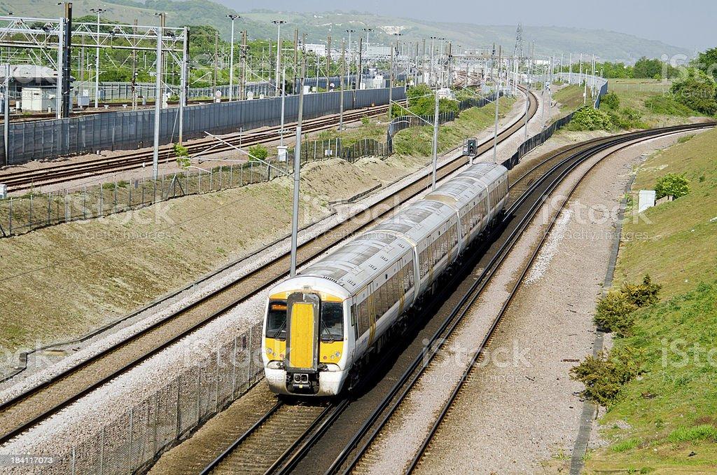 UK commuter train stock photo