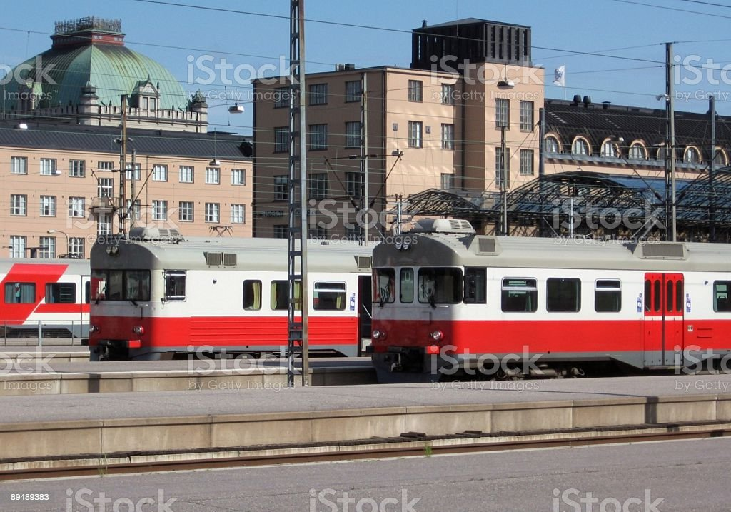 Commuter trains royalty-free stock photo
