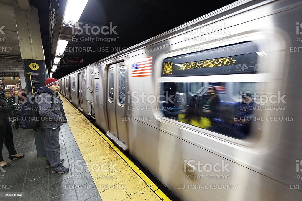 Commuters and Subway 42nd Street  Station Manhattan New-York royalty-free stock photo