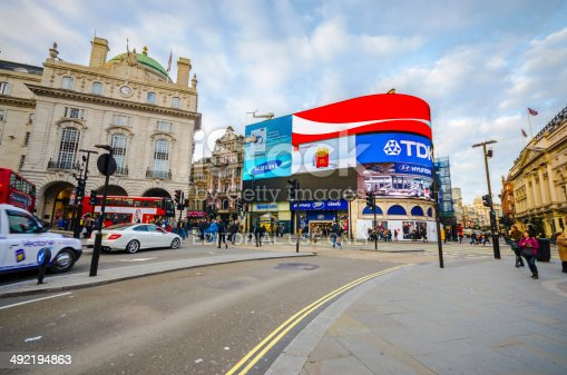 istock Commuters and trafic on Piccadilly circus in London, England 492194863
