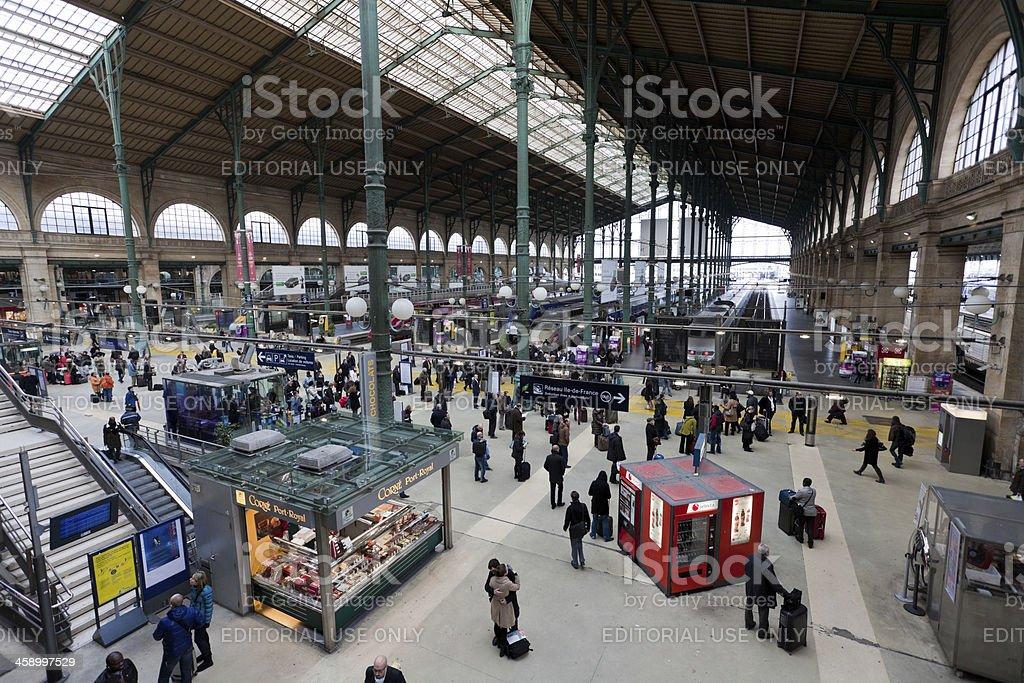Commuters At Gare Du Nord Train Station Paris Stock Photo