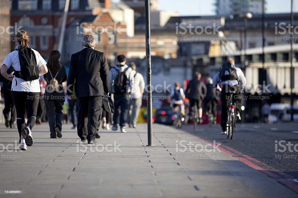 Commuters at Rush Hour (XXXL) royalty-free stock photo