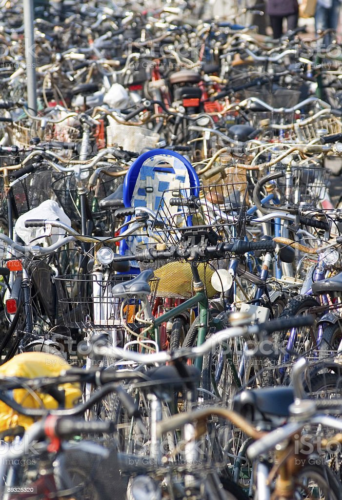 Commuters' Bikes royalty-free stock photo