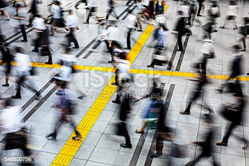 1146224410istockphoto Commuters in a station at Tokyo 546800756