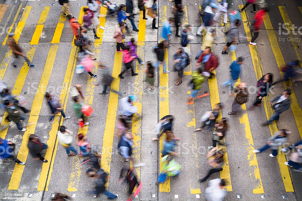 Commuters in Hong Kong stock photo