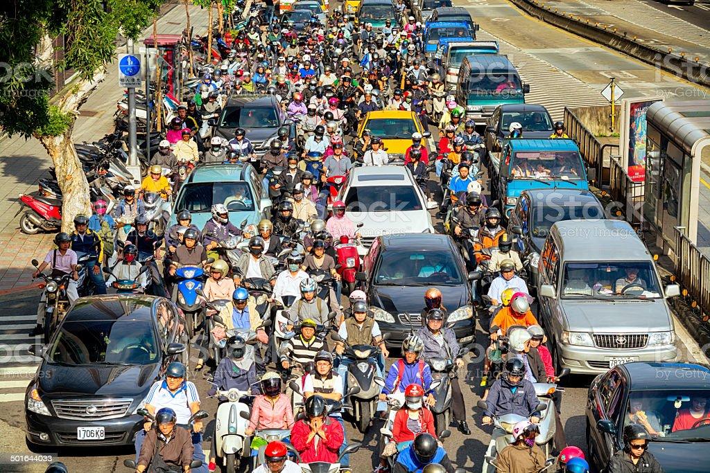 Commuters in Taipei - Taiwan stock photo