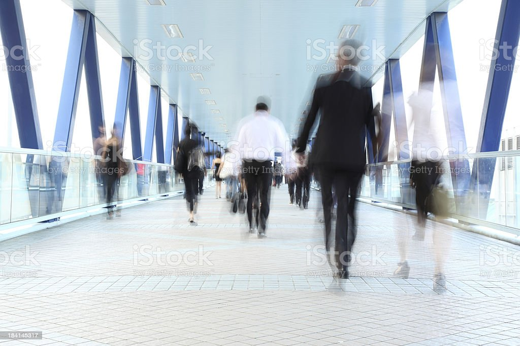 Commuters On The Move Motion Blur stock photo