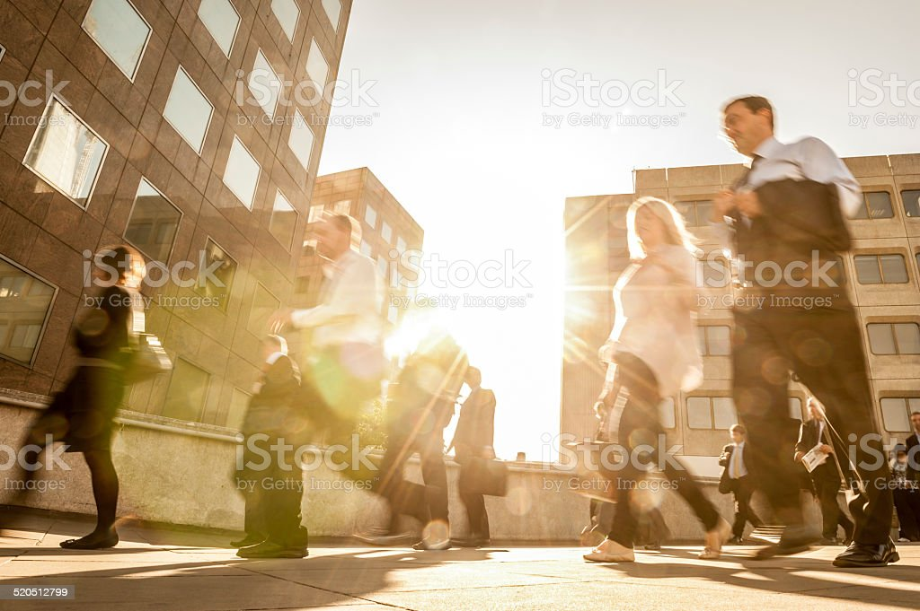 Commuters Walking stock photo
