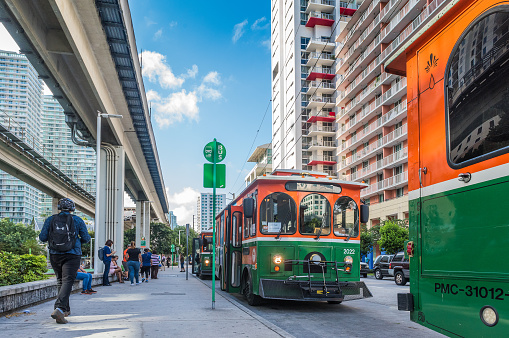 Commuting In Miami Stock Photo - Download Image Now