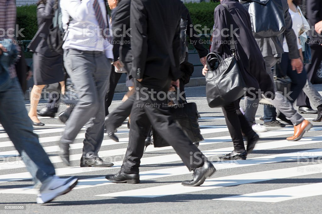 Commuting scenery in Japan (businessman) stock photo