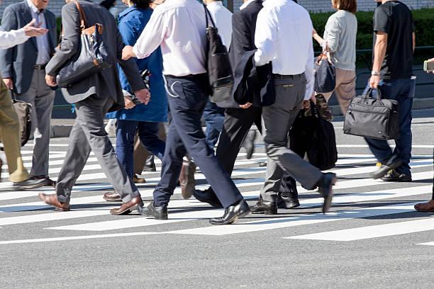commuting scenery in japan (businessman) - 出勤 ストックフォトと画像