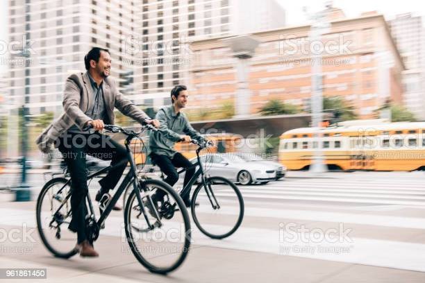 Commuting with work partner by bicycle picture id961861450?b=1&k=6&m=961861450&s=612x612&h=nyt16lzihzgjfl6xz05x7yyic61nq4yilfbrts1dohw=