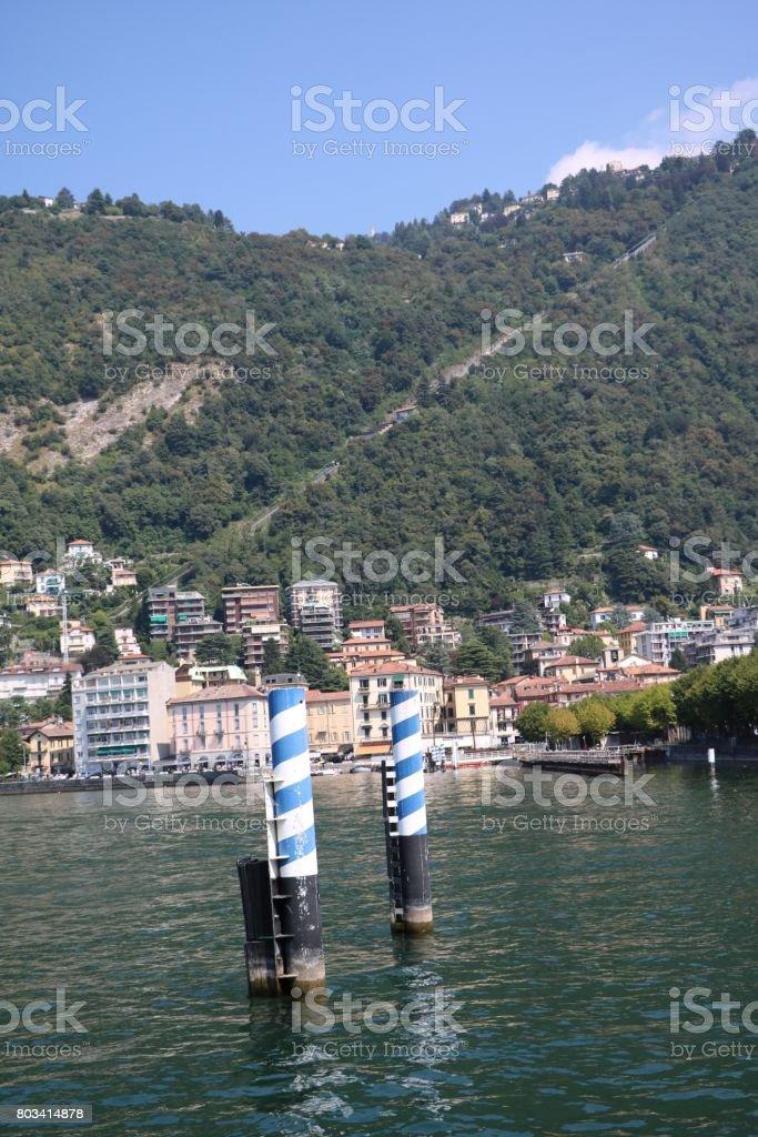 Como at Lake Como, Lombardy Italy stock photo
