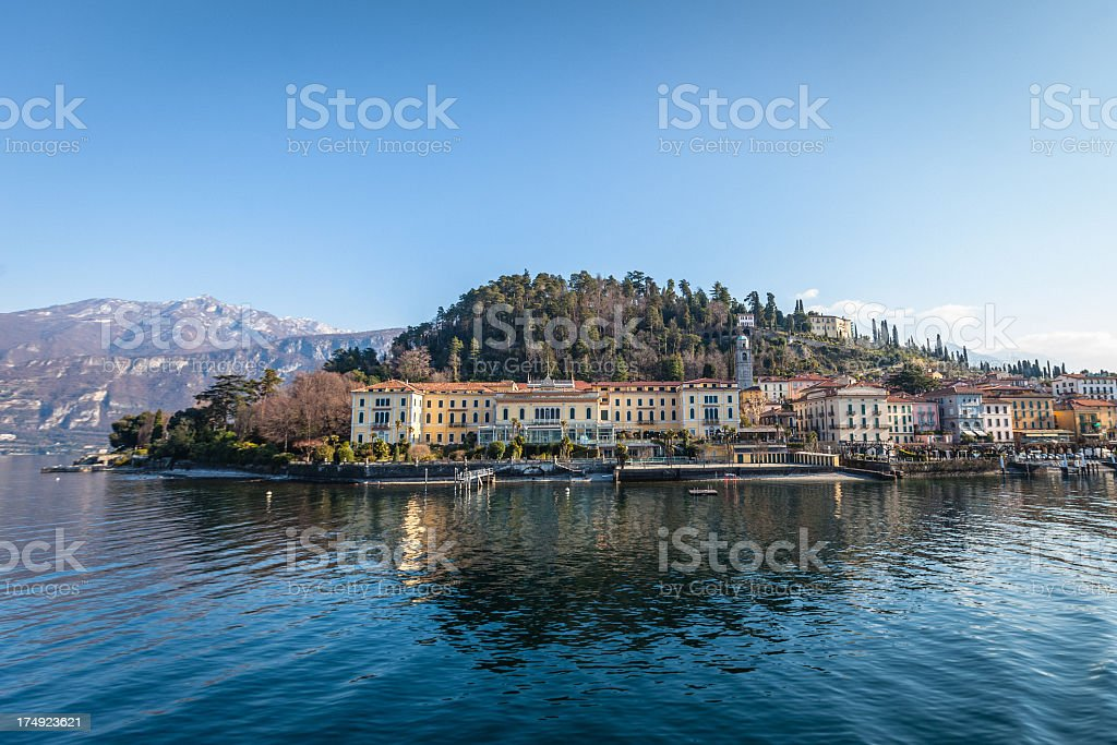 Como district lake, Bellagio royalty-free stock photo