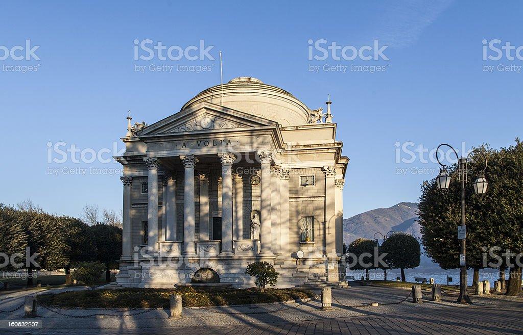 Como: Tempio Voltiano royalty-free stock photo