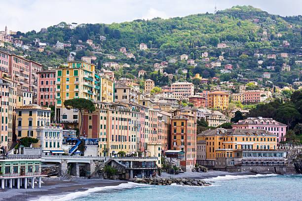 comogli cinque terre, italien - hatfield town stock-fotos und bilder
