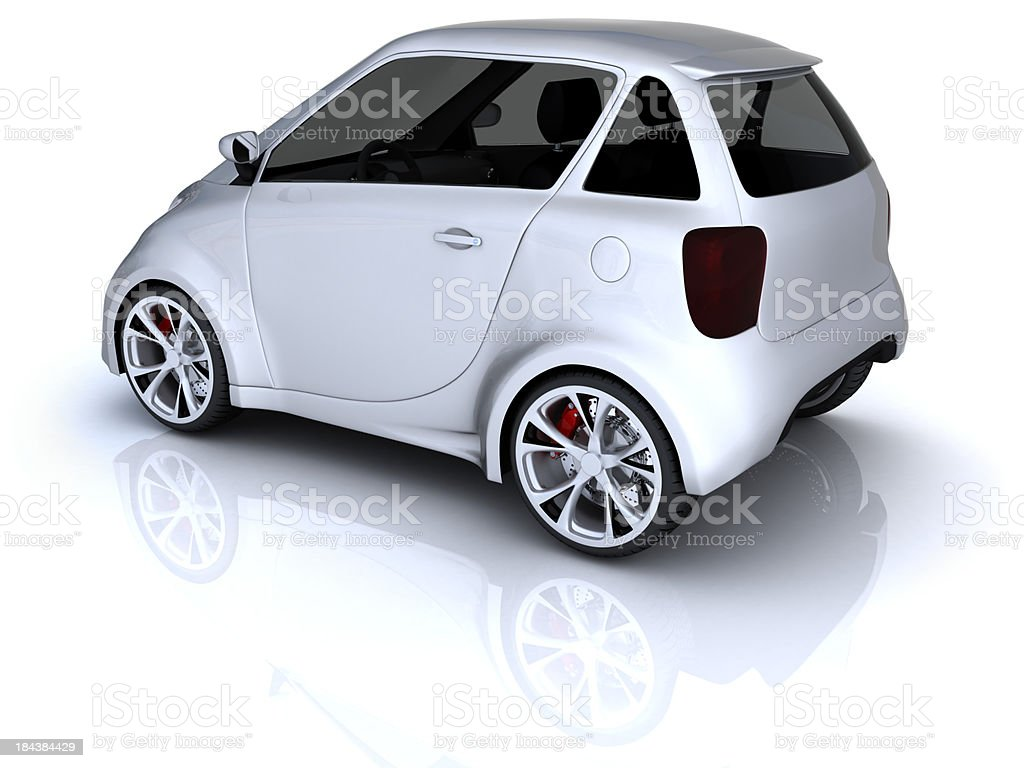 Compact car stock photo