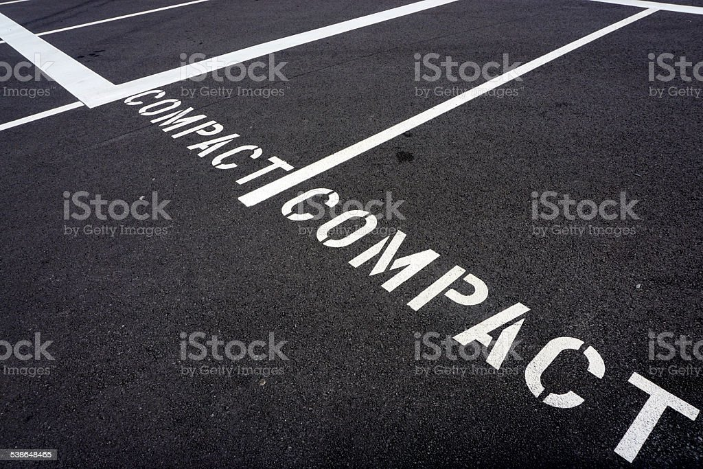Compact cars only stock photo