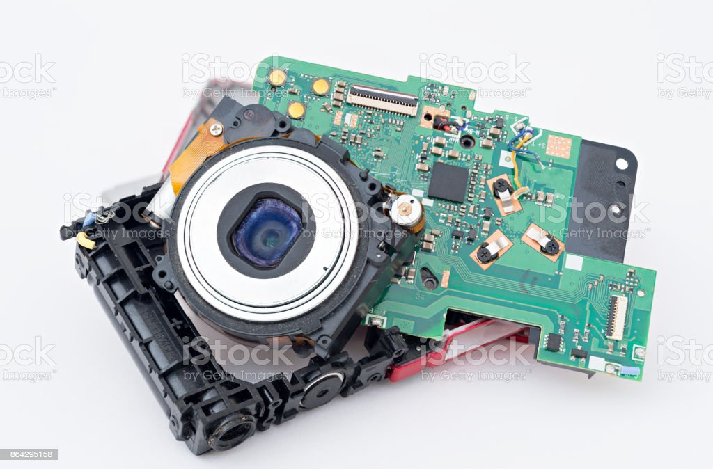 Compact disassembled camera royalty-free stock photo