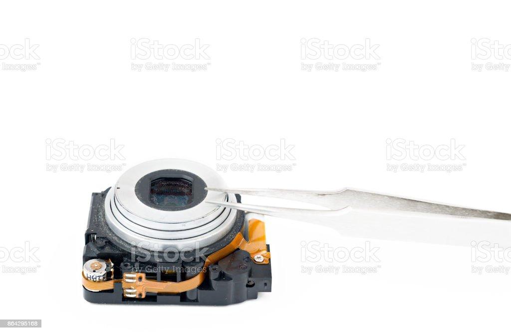 Compact disassembled camera royalty-free stock photo