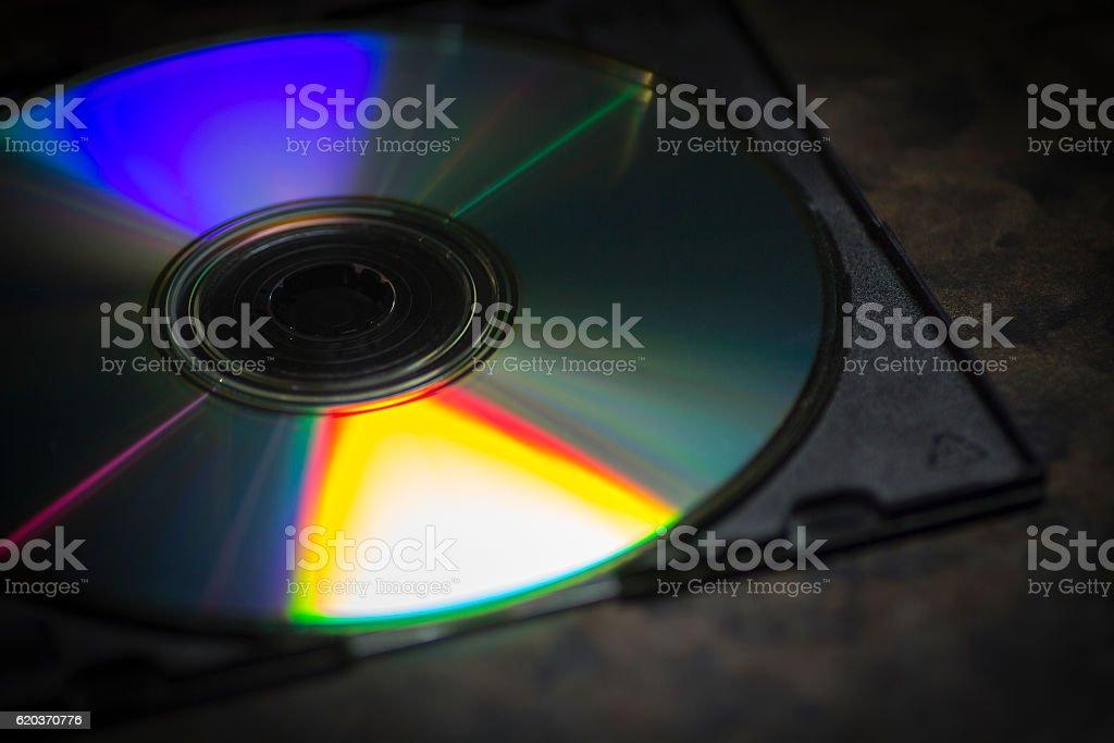 (Compact disc Zbliżenie zbiór zdjęć royalty-free