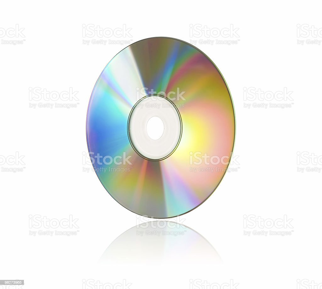 Compact Disc / DVD on White royalty-free stock photo