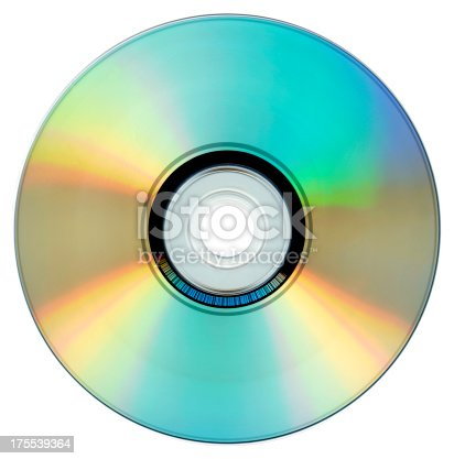 Compact Disc in white Background.