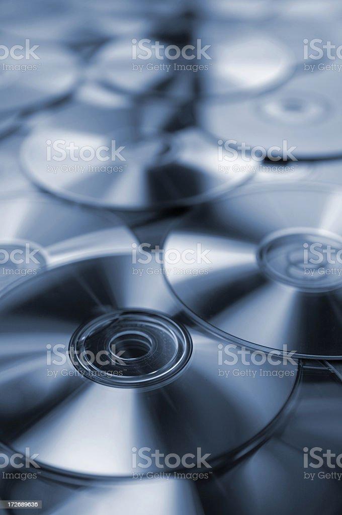 compact discs stock photo