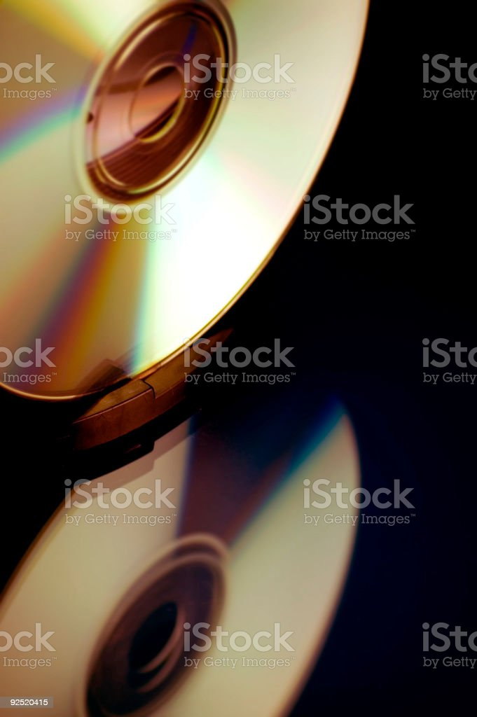 Compact Disk Reflected stock photo