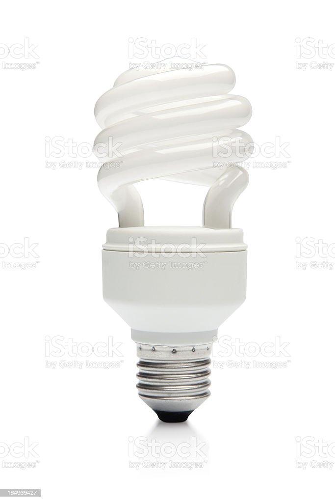 Compact Flourescent Light Bulb stock photo