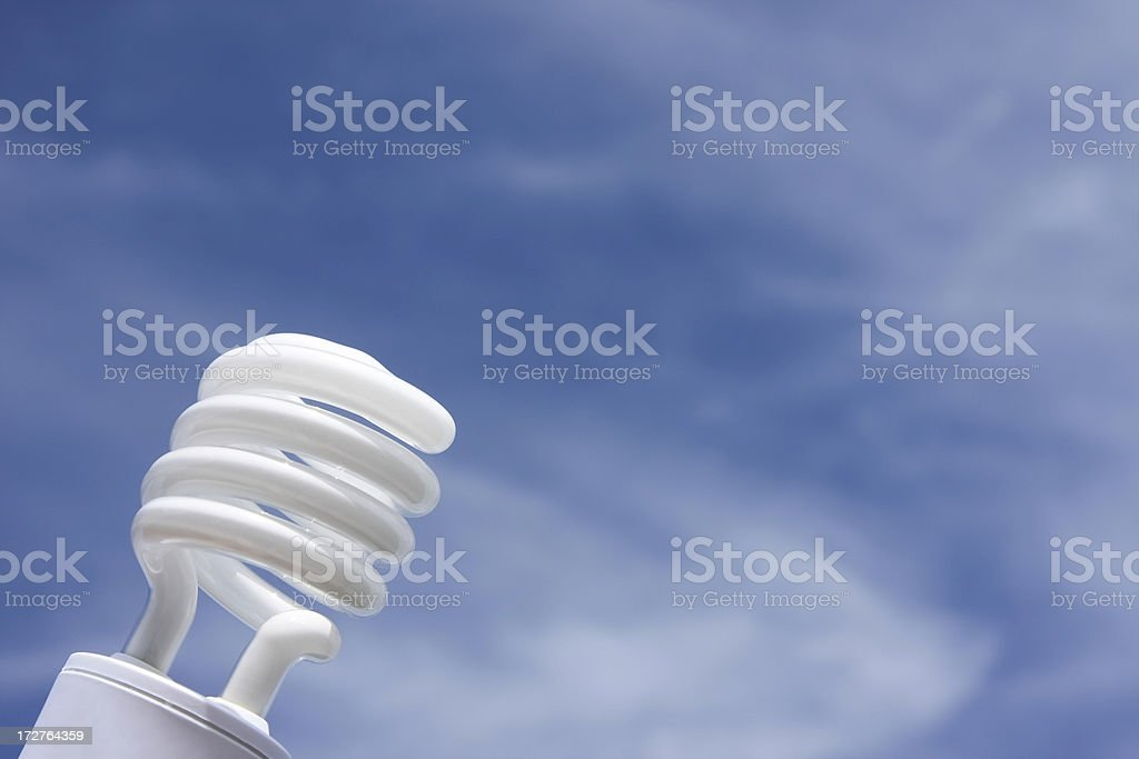 Compact Flourescent Lightbulb royalty-free stock photo
