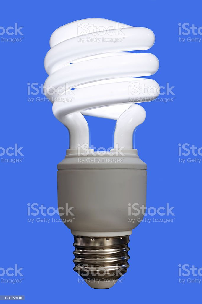 Compact Fluorescent Bulb stock photo