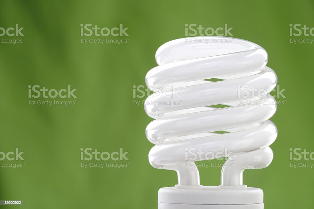 Compact fluorescent bulb stock photo