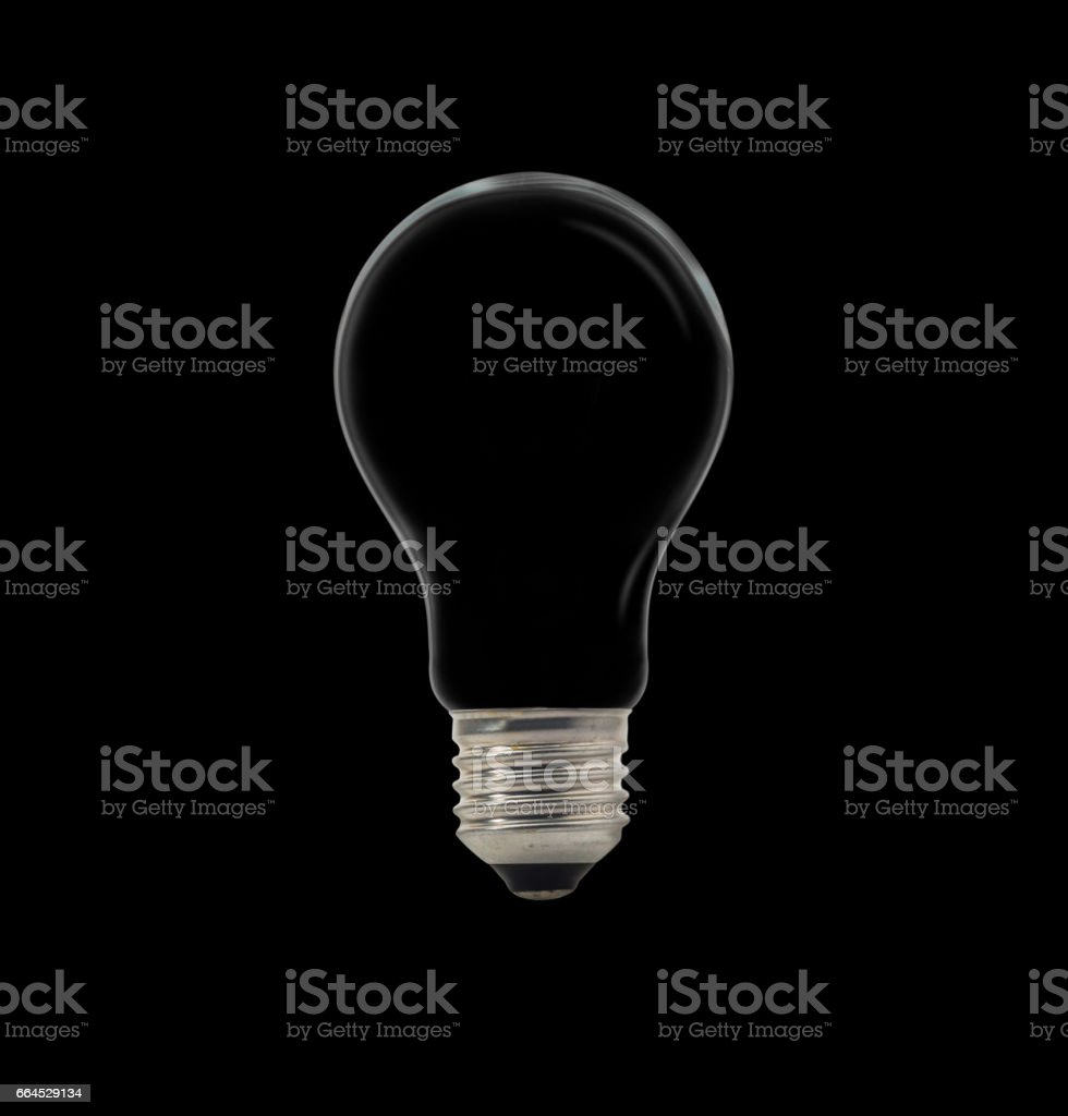 Compact Fluorescent Lamp with lighting on the black background royalty-free stock photo