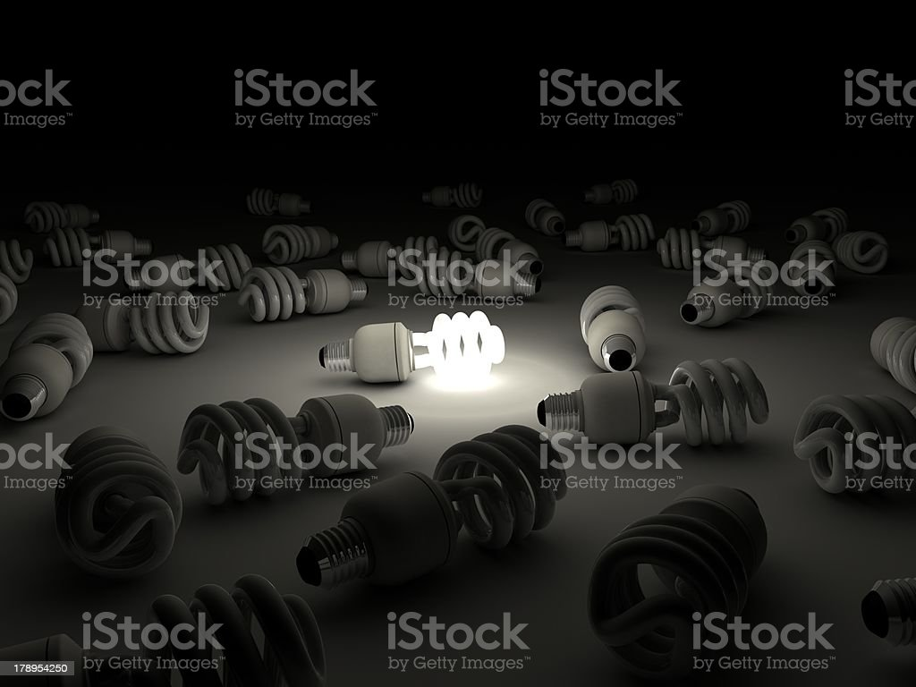 Compact Fluorescent Light Bulb royalty-free stock photo