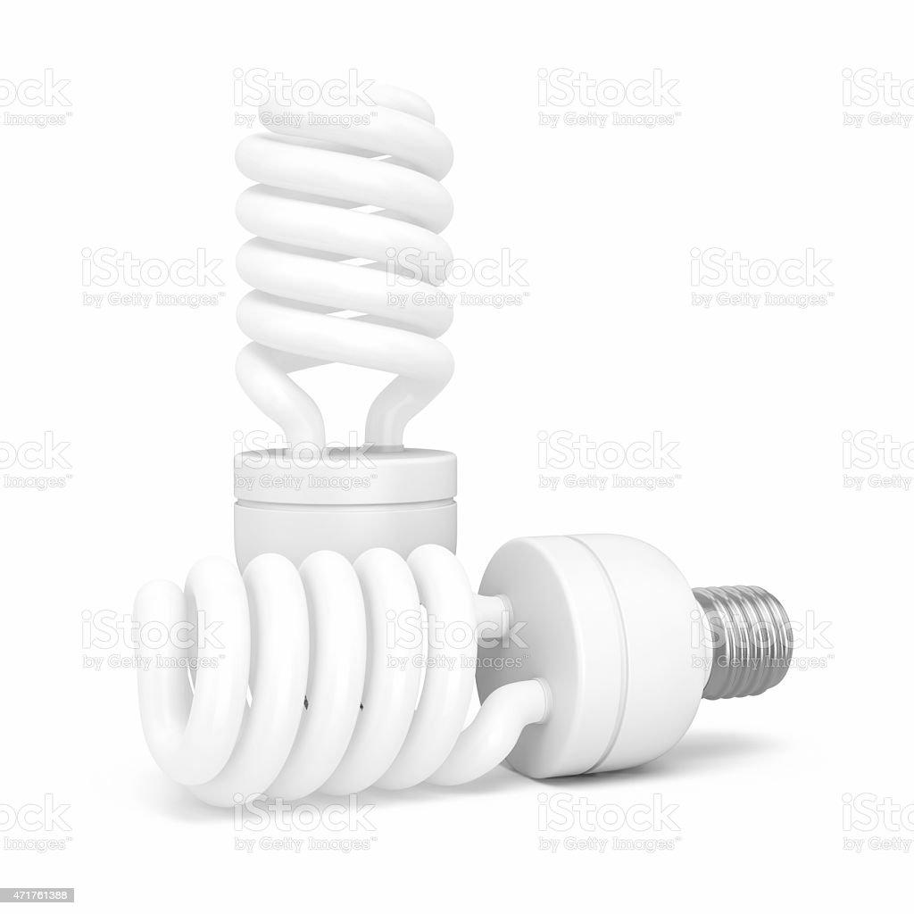 Compact Fluorescent Light Bulb stock photo
