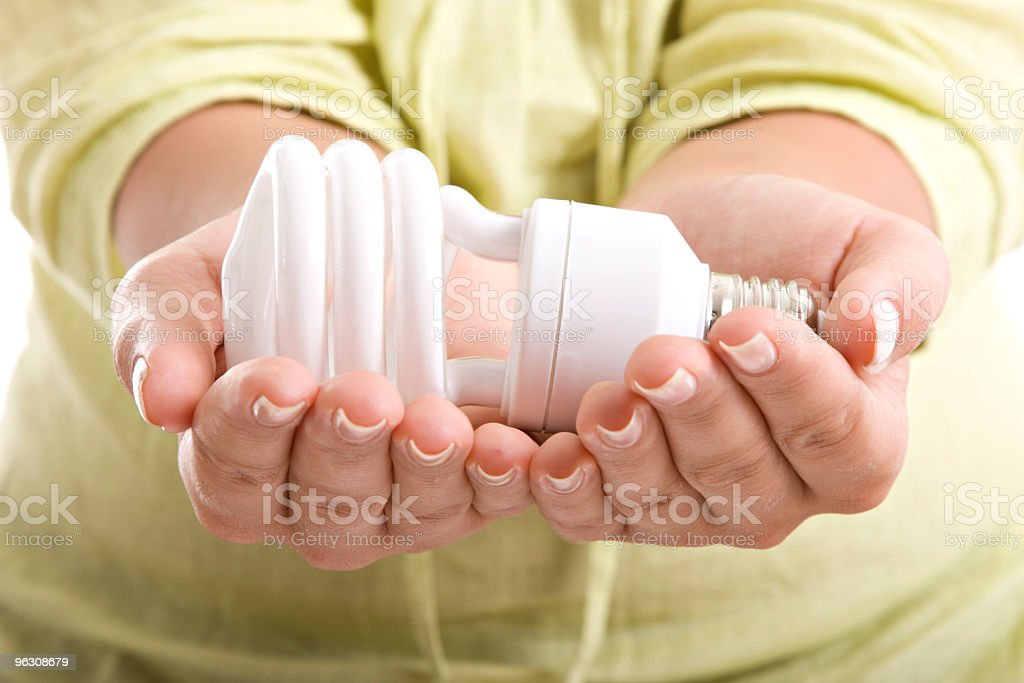 Compact Fluorescent Lightbulb royalty-free stock photo