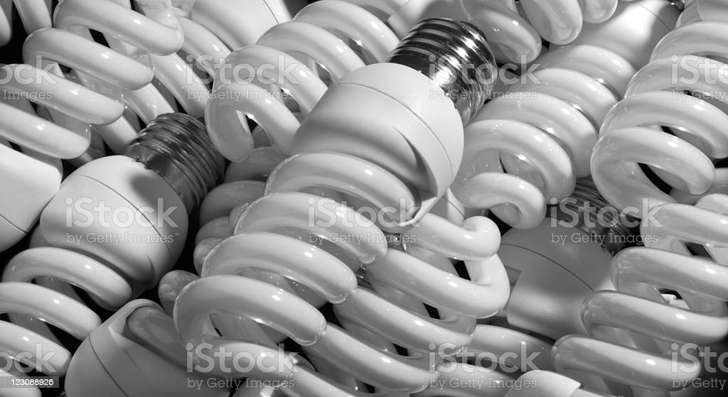 Compact Fluorescent Lightbulbs royalty-free stock photo