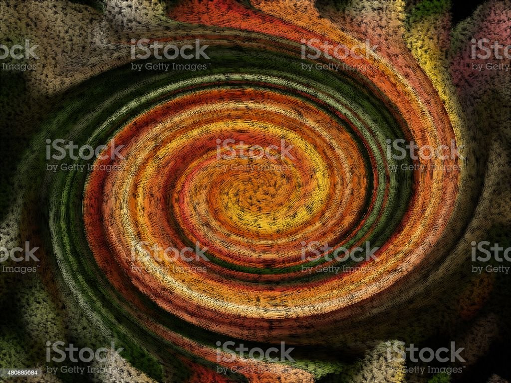Compact green and brown spiral with textile structure stock photo
