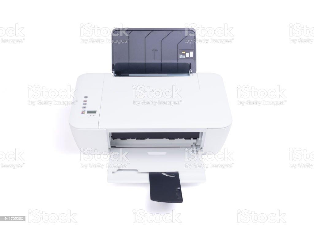 Compact home printer stock photo