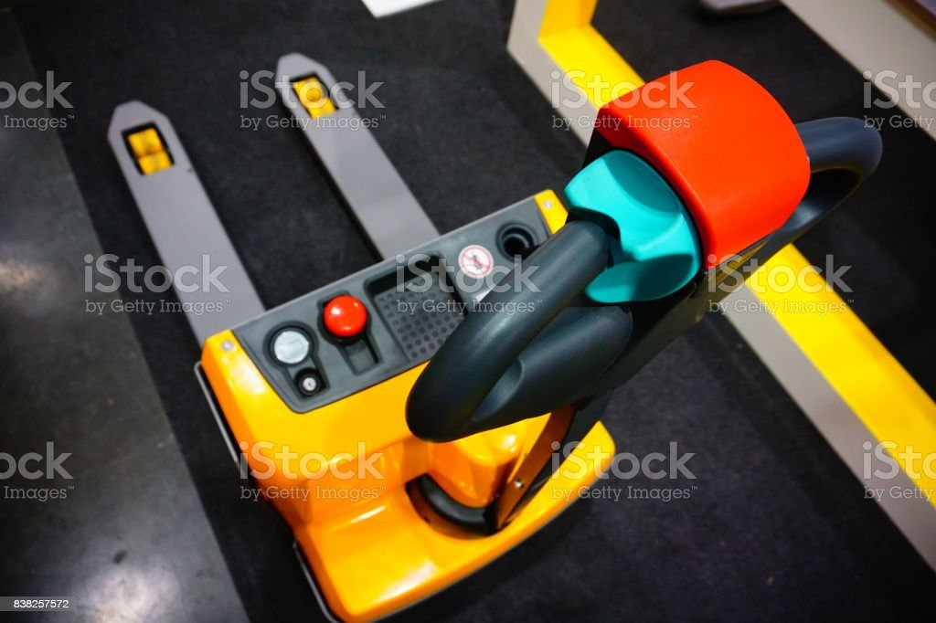 Compact pallet stacker stock photo